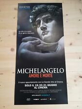 MICHELANGELO AMORE E MORTE Locandina Cinema 33x70 Poster Exhibition Original