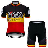 Men's New Cycling Jersey Shorts Kits Short Sleeve Riding Shirt Short Pants Sets