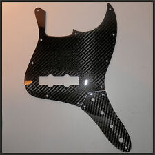 Fender-Squire Jazz Bass Pickguard Scratchplate-Control Plate REAL Carbon Fiber