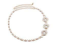Femmes Or Strass Ceinture Chaîne De Taille Diamant Diamants Buckle 644