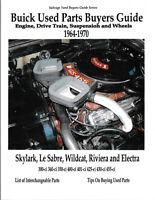 Buick Parts Interchange Manual Buyers Guide Book 1964-70 Riviera Wildcat Skylark