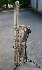 Vintage silver plated Buffet-Crampon Evette & Schaeffer Bass sax Saxophone RARE!