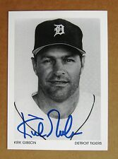 Detroit Tigers 1984 World Series Hero Kirk Gibson Signed 4 x 5 photo