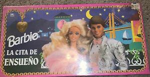 RARE~SPANISH~VINTAGE~1992 Barbie La Cita De Ensueno~BOARD GAME~GOLDEN~Sealed