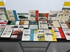 Lot 30 Vintage Original 1950s JEEP & WILLYS Car Dealer SALES BROCHURE Catalog