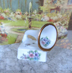 DOLLHOUSE RECORD PLAYER Miniature ARTISAN SIGNED PORCELAIN PHONOGRAPH Victrola