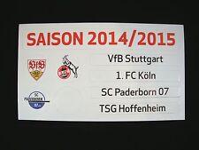Update-Set 1.Bundesliga Magnettabelle 14/15 Tabelle DFL 2014/2015 1.Liga SCP FCK