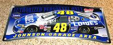 "JIMMIE JOHNSON #48 LOWE'S RACING 2016 CHAMPION NASCAR GARAGE AREA SIGN 19""X 8 """