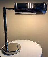 Nice Vintage Nessen Chrome Adjustable Shade Lamp Mid Century Modern Lighting
