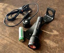 Led Lenser P5R.2 Rechargeable Flashlight Set Mint Condition
