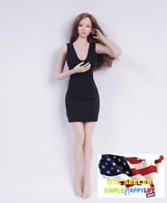 "1/6 classic black dress for 12"" female figure phicen hot toys poptoys kumik�Usa�"