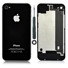For Apple iPhone 4 - NEW Replacement Battery Cover / Rear Glass Panel (BLACK)