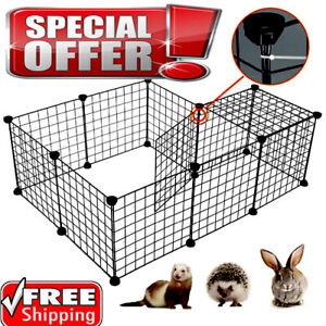 Foldable Dog Playpen Crate 8 Panel Fence Pet Play Pen Exercise Puppy Kennel Cage