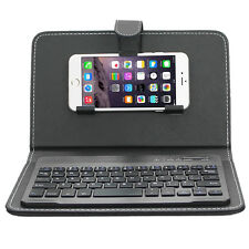 ENKAY Wireless Bluetooth Keyboard Leather Case for iPhone 6s Plus/Samsung S7 USA