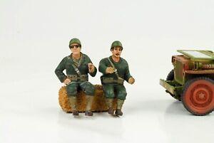 US Army Driver Soldier Set 2 Figurine 1:18 Figurines American Diorama No Car
