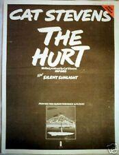 "CAT STEVENS The Hurt 1973 UK Poster size Press ADVERT 16x12"""