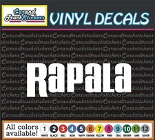 Rapala Fishing Tackle lures boat Vinyl Car Decal window sticker 8""