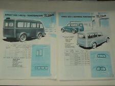 Glac Auto RENAULT 1000 KG & JUVAQUATRE JUVA 4 prospectus brochure prospeckt