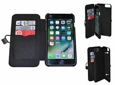 Handy Tasche Multifunktion Hülle Cover Wallet Case iPhone 6 Plus 6s Plus Schwarz