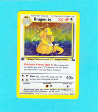 Pokemon 1st. Edition Fossil Set - Dragonite Holo  # 4/62