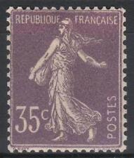 "FRANCE STAMP TIMBRE N° 136 "" SEMEUSE 35c VIOLET CLAIR 1906 "" NEUF xx TTB  M200"