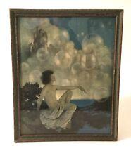 "Vintage Maxfield Parrish ""Air Castles"" Print Framed Old"