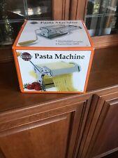 Norpro Manual Hand Crank Stainless Steel Pasta Machine Model 1048534 New in Box