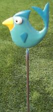 "Garden Lawn Yard Decoration Whimsically Styled Blue Bird NEW 23"" tall"