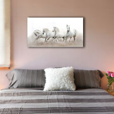 Four Horses Stretched Canvas Prints Framed Wall Art Home Decor Painting Gift