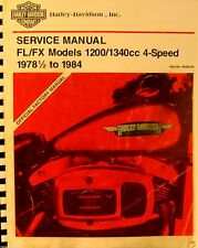 1978 1/2 to 1984 Harley-Davidson Serv.manual FL/FX Mdls.1200/1340 cc 4-Speed FSH
