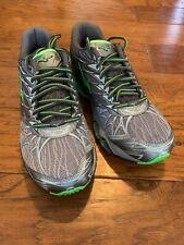Mens Grey And Green Mizuno Wave Prophecy 7 Running Shoe - Size 9 Medium