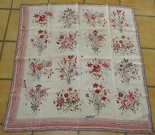 Très beau Grand foulard vintage GUCCI crèpe de soie silk scarf TBE