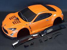 "RC CAR KAROSSERIE 1:10 ""TOYOTA GT 86"" IN BLACK ORANGE 190MM BREIT # JLR16B"