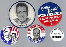 1968 HUBERT H. HUMPHREY & ED MUSKIE POLITICAL CAMPAIGN BUTTON GROUP A