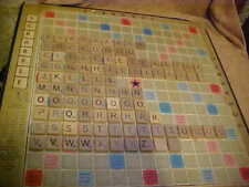 COMPLETE SET OF 100 WOOD SCRABBLE TILES FOR GAME OR ARTS & CRAFTS & MORE ******