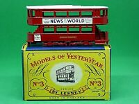 Matchbox Lesney Y3-1 1907 London 'E' Class Tramcar 'C' Box (GOLD & SILVER TRIM)
