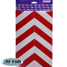 2x Warntafel rot weiss Streifen Oracal Folie Reflektor Aufkleber 30 x 10cm M1
