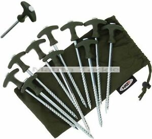 NEW 1 4 10 x Heavy Duty Camping Tent Bivvy Pegs Shelter Storm Brolly opt Mallet