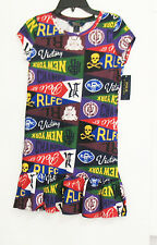 Ralph Lauren Girls Pennant Cotton Tee Dress Pendant Multi Sz S (7) - NWT