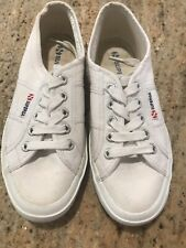 Superga 2750 Classic White Women's Tennis Shoes Sneakers Athletic Size 6 Or 36