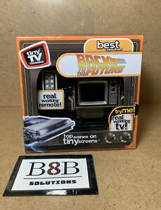 ✅ TINY TV Classics BACK TO THE FUTURE Real Working Mini TV Collectible Toy | NEW