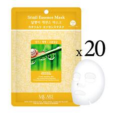 20pcs Korean Essence Facial Mask Sheet, Moisture Face Mask Pack Skin Care