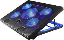Kootek Laptop Cooling Pad 12-17 Cooler Pad Chill Mat 5 Quiet Fans LED Lights