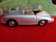 Burago 1/18 scale Porsche 356B roadster - Silver with tan interior