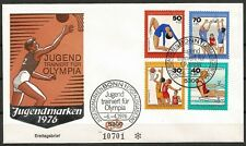 Germany (West) FDC 1976 - Sport Training for the Olympic Volleyball