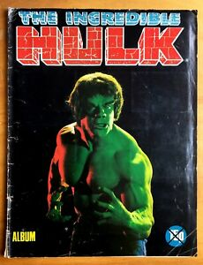 The Incredible Hulk Vintage Sticker / card Album 1979 with many cards!