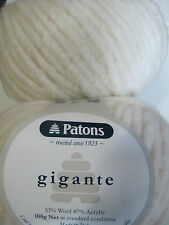 PATONS GIGANTE 2 BALLS WINTER WHITE,NO 8470,100GRS,NEW ARRIVAL,NEW COLOUR