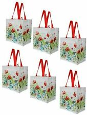 Earthwise Reusable Grocery Shopping Bags Extremely Durable Multi Use (Set of 6)