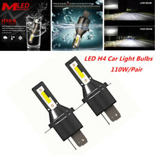 360° 2PCS H4 Car LED Headlight 6000K 26000LM 110W Kit Conversion Bright Bulb