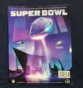 NFL Super Bowl LII Program - New England Patriots Vs. Philadelphia Eagles